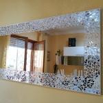 Specchio Best con inserti in foglia oro