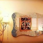Specchio d'arte in mosaico Onde Preziose