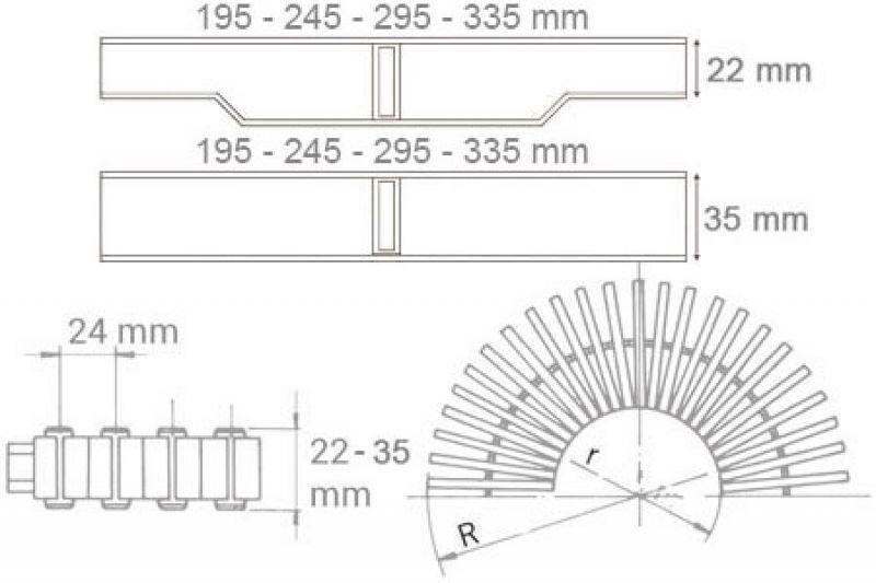 Griglia bordo sfioro curvabile Astralpool 6
