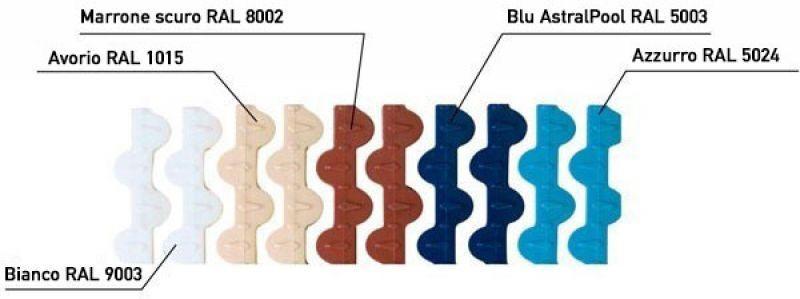 Griglia bordo sfioro curvabile Astralpool 7