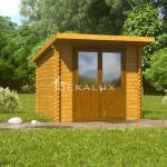 Casetta in legno 2,5x2,5 (34mm) con porta doppia...