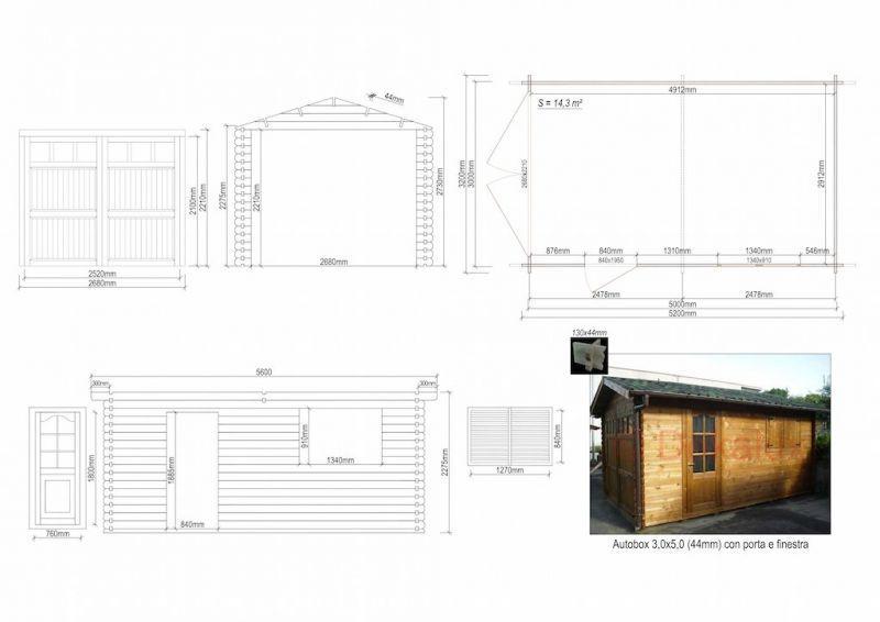 Garage in legno 3x5 (44mm) 5