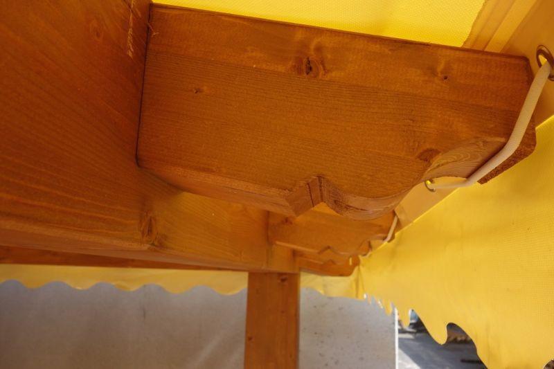 Gazebo in legno 3x3 in lamellare a 4 acque 3