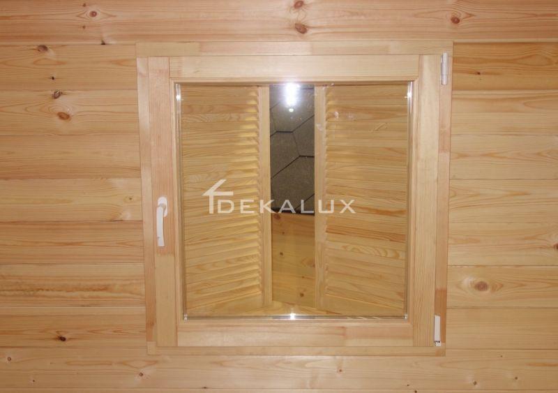 Bungalow in legno 5 x 5  con parete divisoria 5