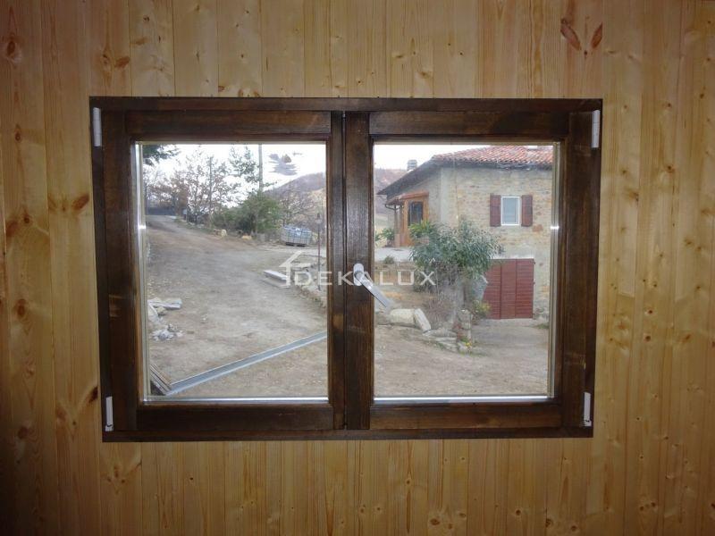Bungalow in legno 5 x 5  con parete divisoria 6
