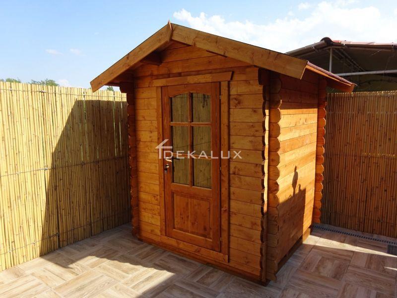 Casetta in legno da giardino 1,80 x1,80 mt 1