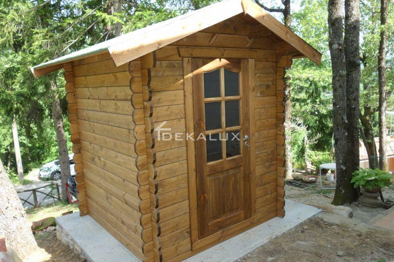Casetta in legno da giardino 1,80 x1,80 mt 2