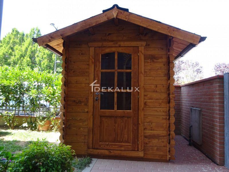 Casetta in legno da giardino 1,80 x1,80 mt 3