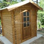 Casetta in legno da giardino 1,80 x1,80 mt