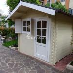 Casetta in legno 2.5x2 mt con porta singola