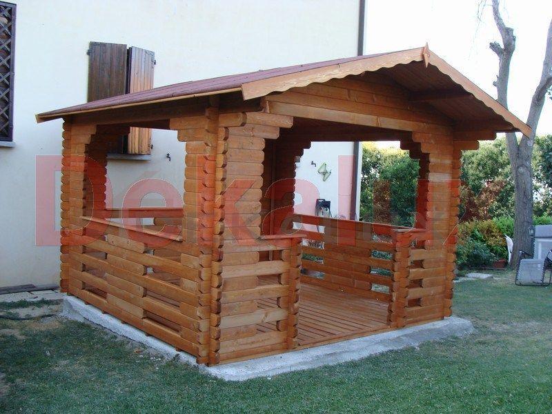 Gazebo in legno 3.00x3.00 (44 mm) 1