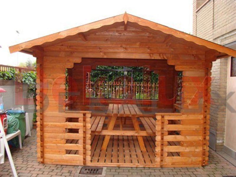 Gazebo in legno 3.00x3.00 (44 mm) 2