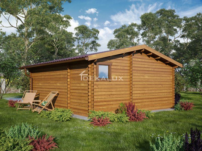 Bungalow in legno 5x6 (44mm) con pareti divisorie 2