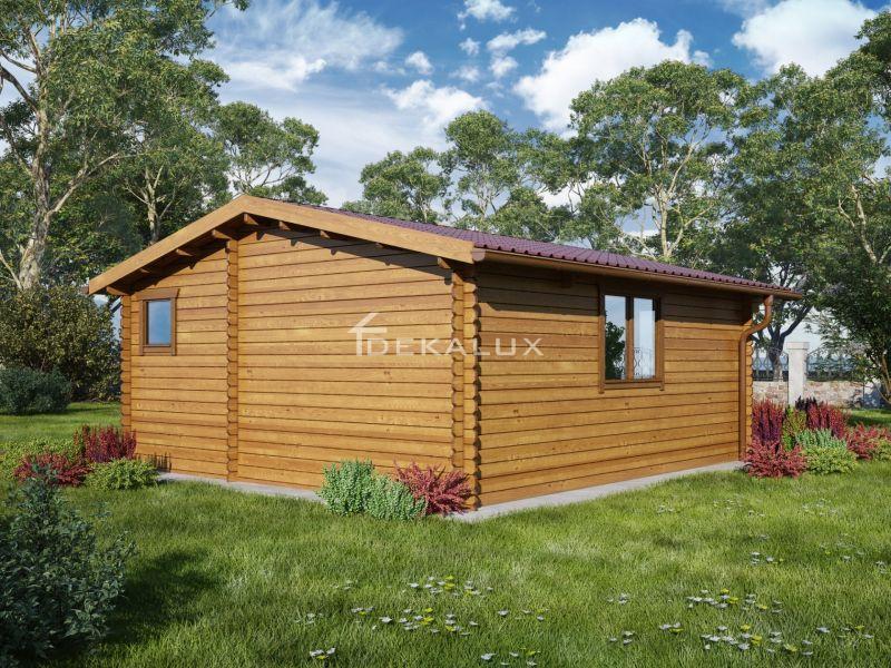 Bungalow in legno 5x6 (44mm) con pareti divisorie 3