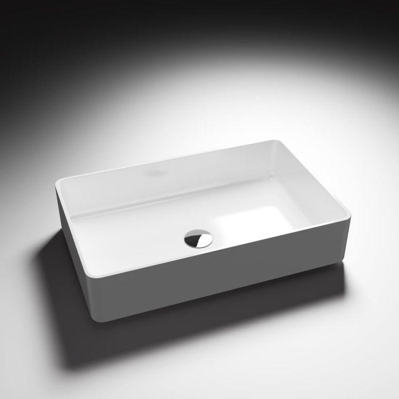 Lavabo da appoggio Zante bianco lucido 58x37 2