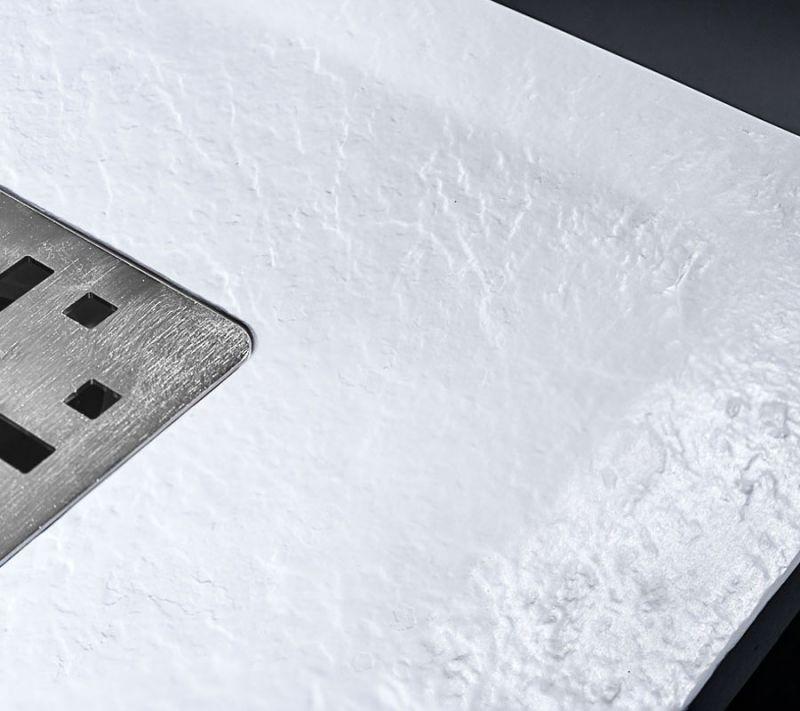 Piatto doccia rettangolare SIMI 120x80 finitura pietra colore bianco 3