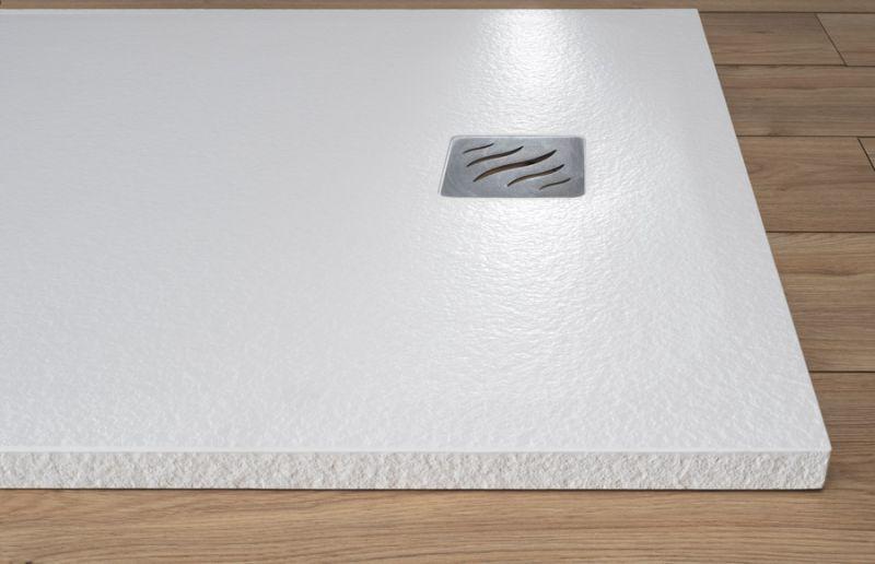 Piatto doccia rettangolare SIMI 120x80 finitura pietra colore bianco 4