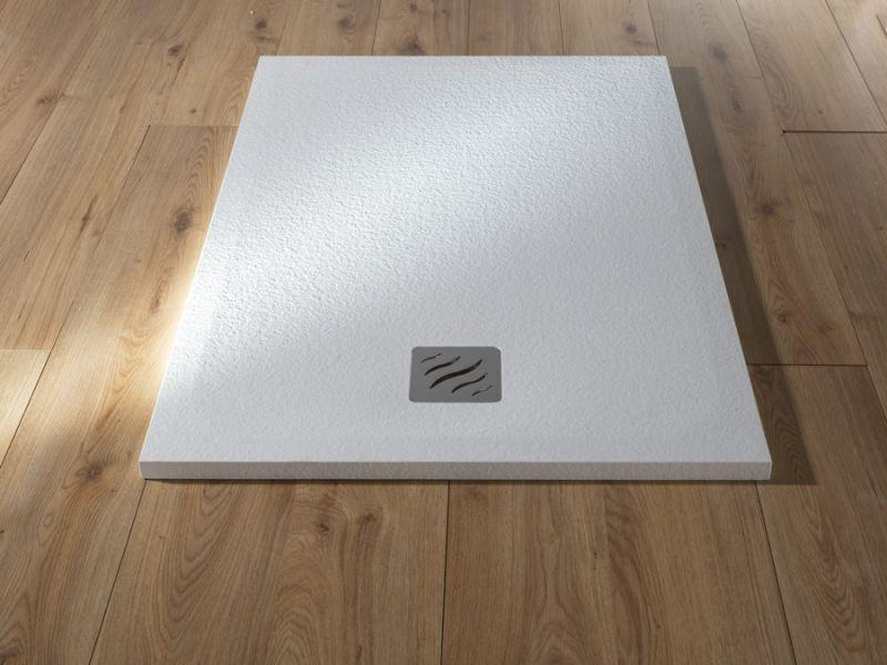 Piatto doccia rettangolare SIMI 120x80 finitura pietra colore bianco 5