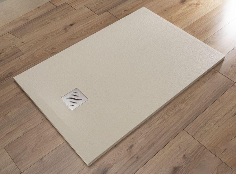 Piatto doccia rettangolare SIMI 120x80 finitura pietra colore bianco 6