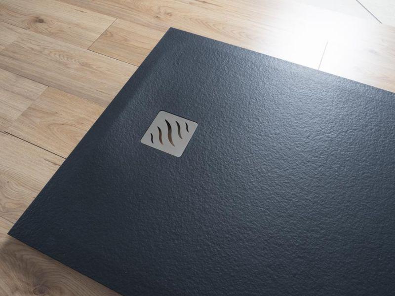 Piatto doccia rettangolare SIMI 120x80 finitura pietra colore bianco 8