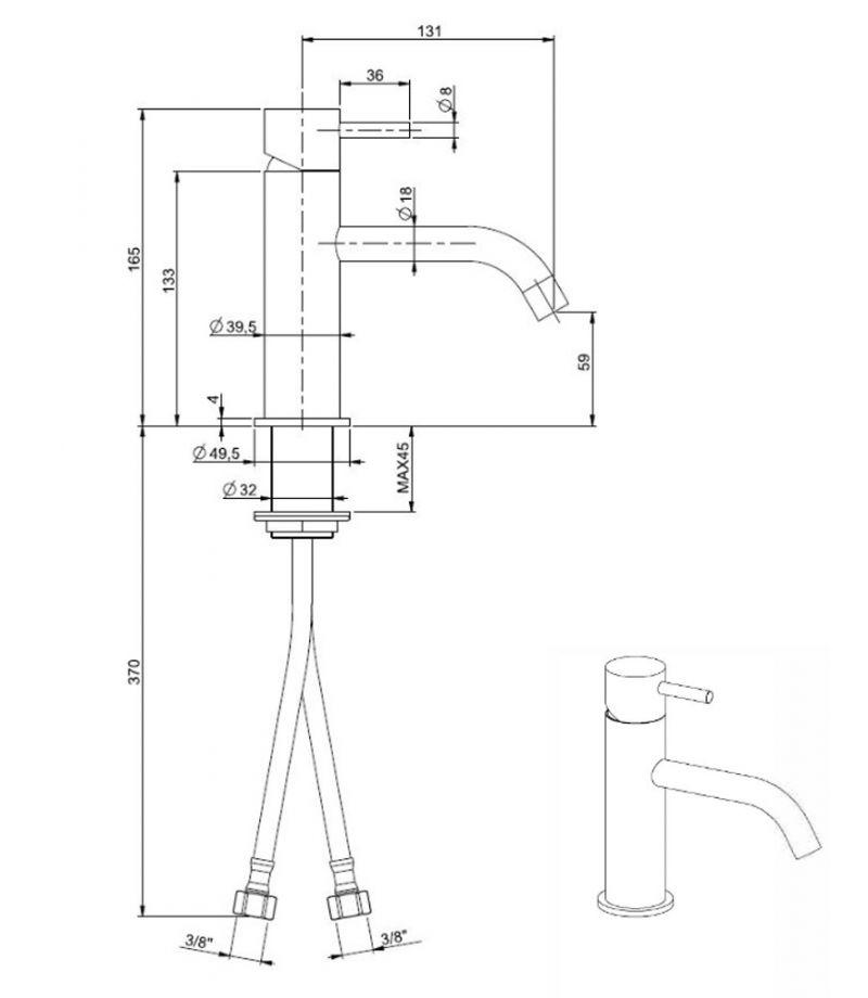 Miscelatore per lavabo da appoggio di design 2