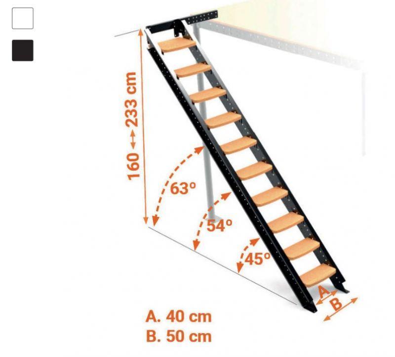 Scala Laterale per soppalchi da 45° a 63° 2