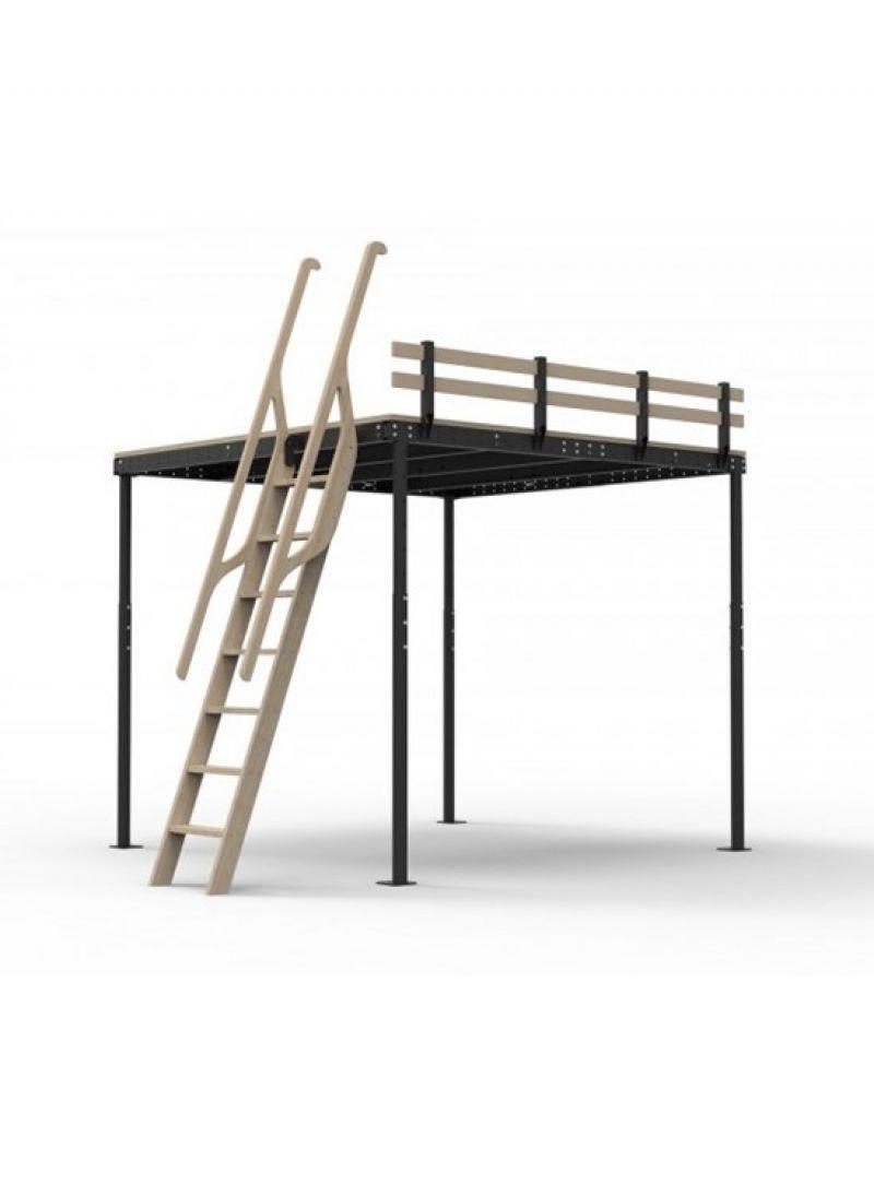 Scala in legno per soppalchi 70° 1