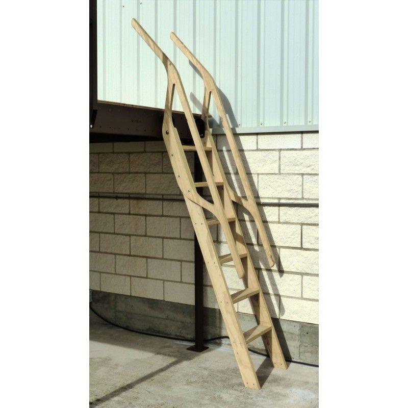 Scala in legno per soppalchi 70° 4