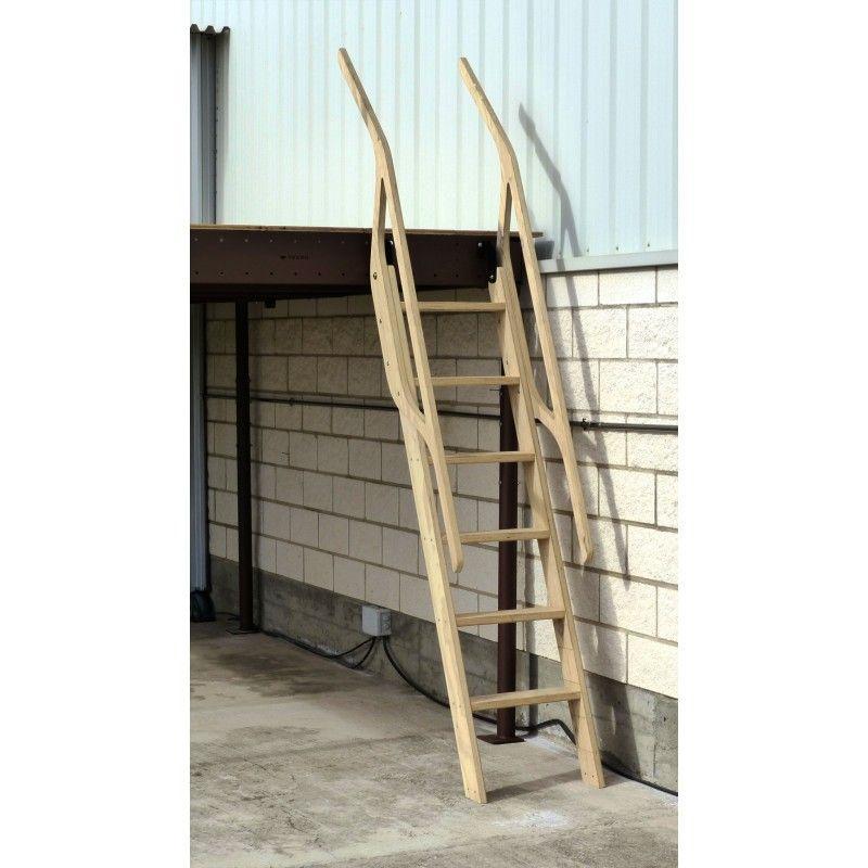 Scala in legno per soppalchi 70° 6