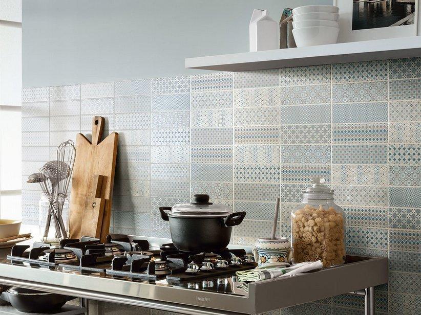 Piastrella pattern blue 25x40 patchwork con disegni 1