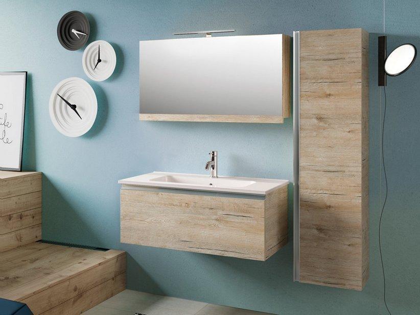 Specchio bagno smart contenitore 89x17 h51 natural 1