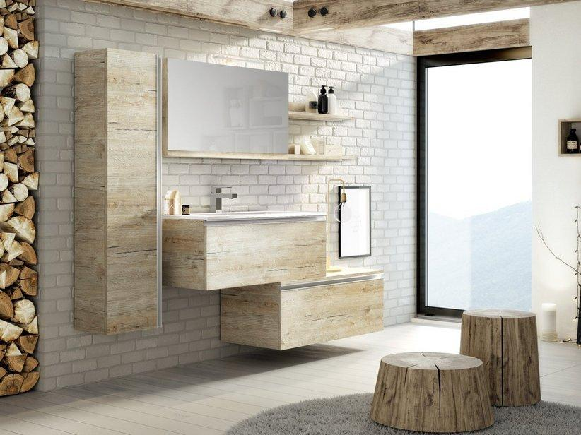 Mobile bagno smart 91 cm natural oak 1