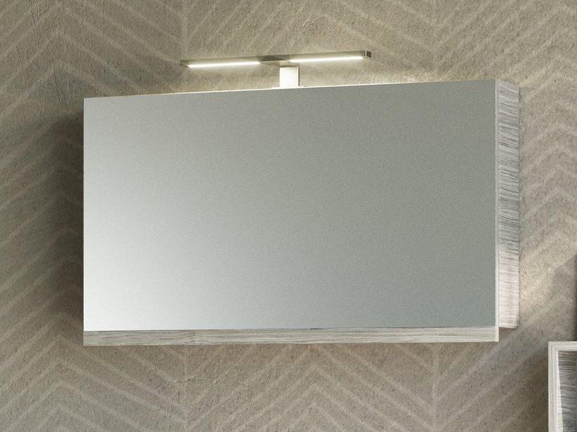 Specchio bagno smile contenitore 90x51 larice grigio 1