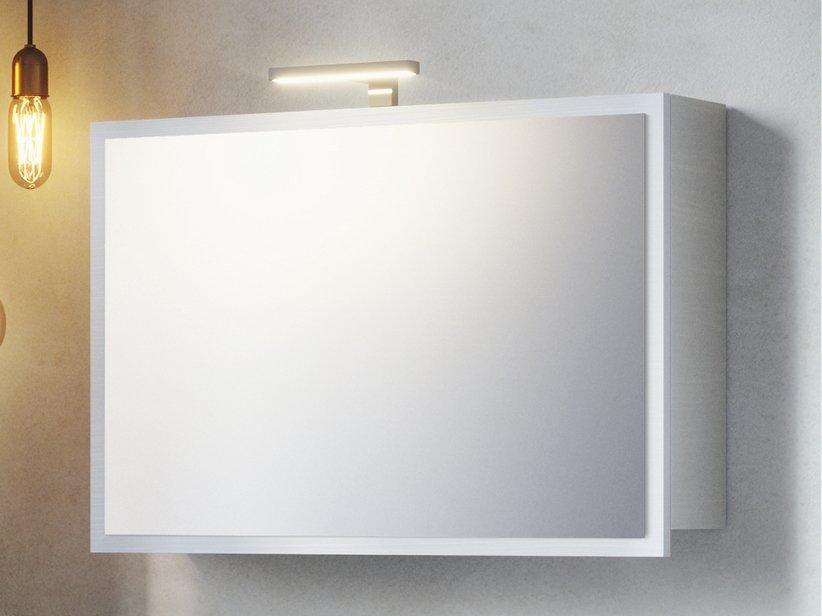 Specchio bagno smile contenitore 75x51 bianco valiant 1
