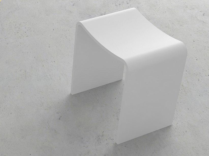 Sedile doccia wave solid surface bianco opaco 1