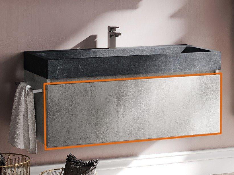 Cassetto bagno qubo 100 cm grigio ossido 1