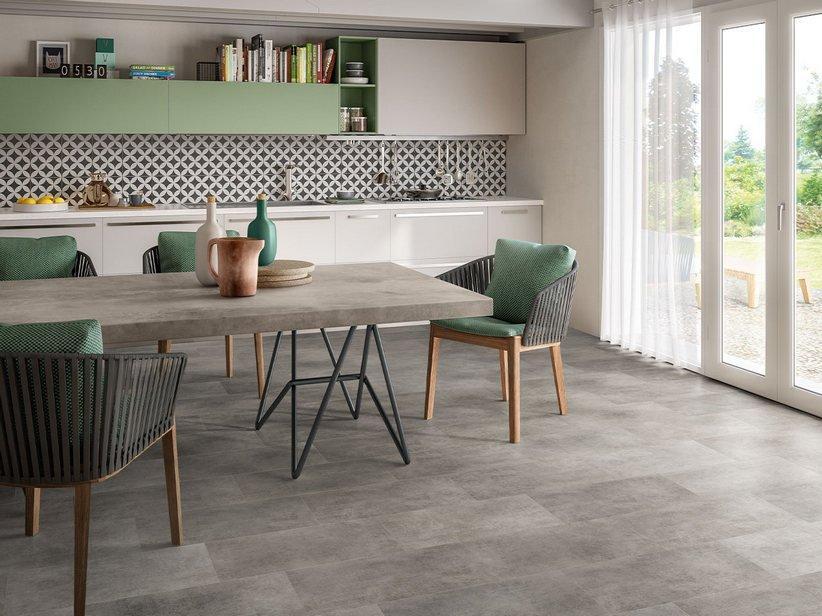 Pavimento spc space anthracite effetto cemento grigio 1
