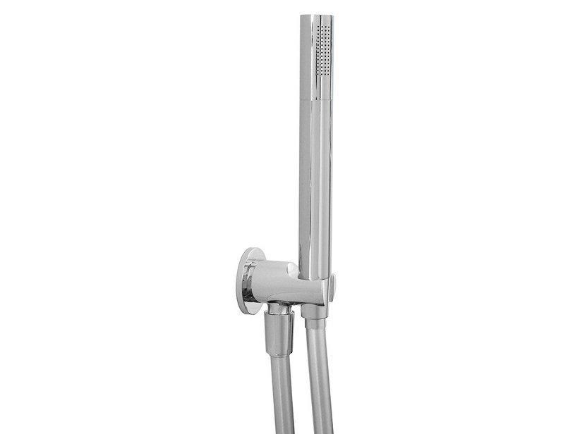 Kit doccia low round duplex ottone cromo 1