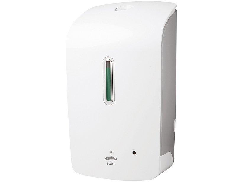 Dispenser automatico sapone liquido bianco/grigio linea deluxe 1