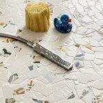 Mosaico salina 30x30 in gres porcellanato lucido