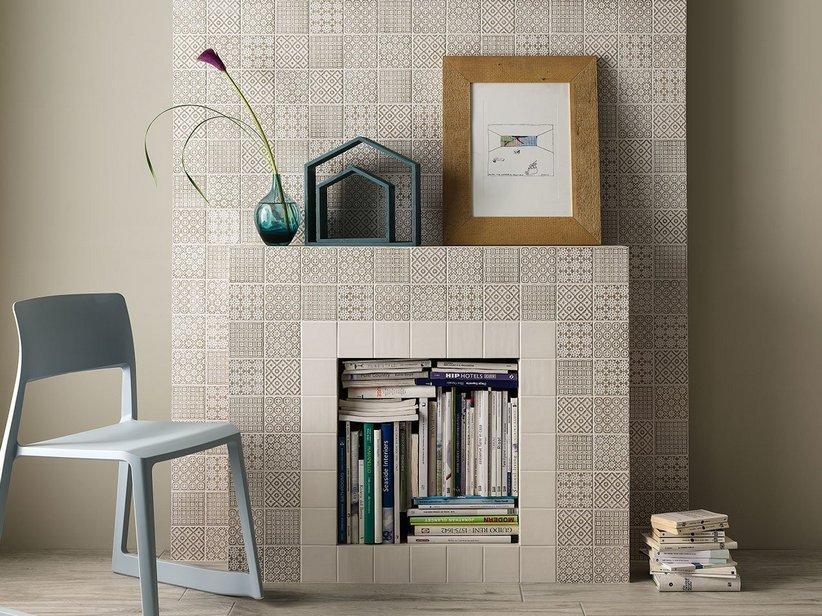 Piastrella batik decoro tortora 10x10 patchwork 1