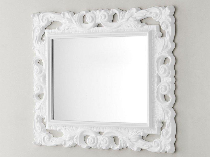 Specchio bagno barocco 94x75 bianco 1