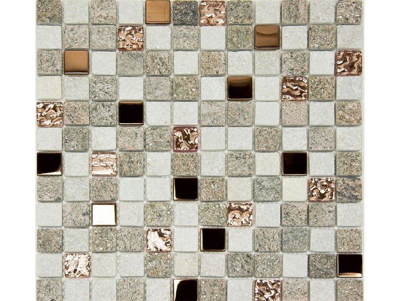 Mosaico pietra naturale st moritz rose 30x30 1