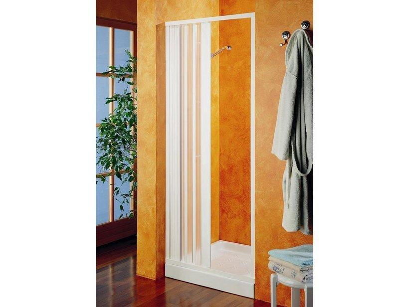 Porta doccia scorrevole hobby cm 90xh184 pvc 1