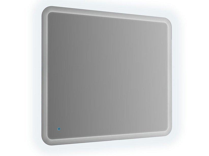 Specchio bagno led 90x90 filo righe con 1