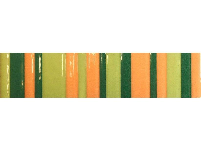 Listello righe verde 5x20 1