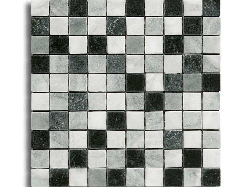 Mosaico marmo cesena nero mix 30 5x30 1