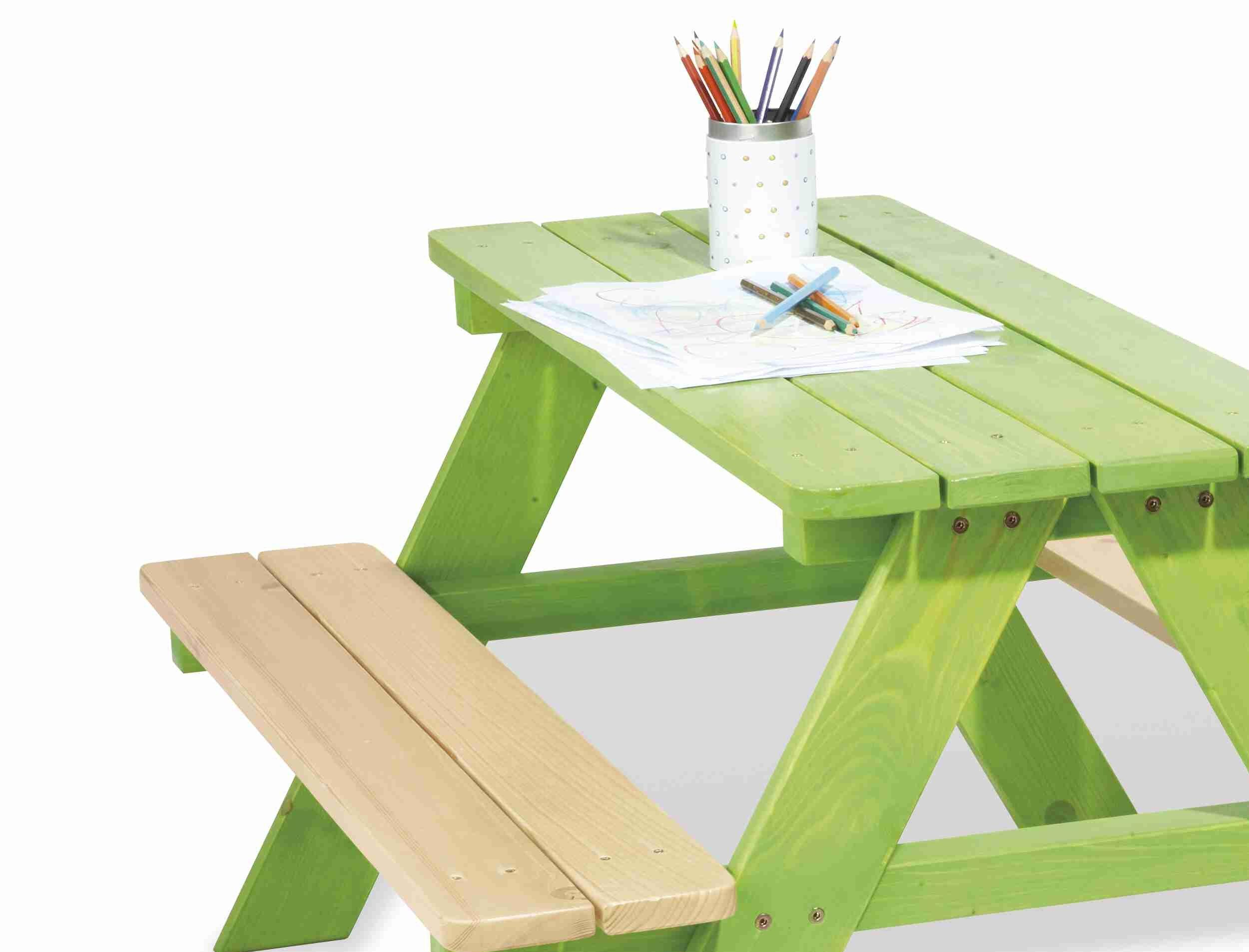 Tavolo per bambini nicki verde by pinolino 1