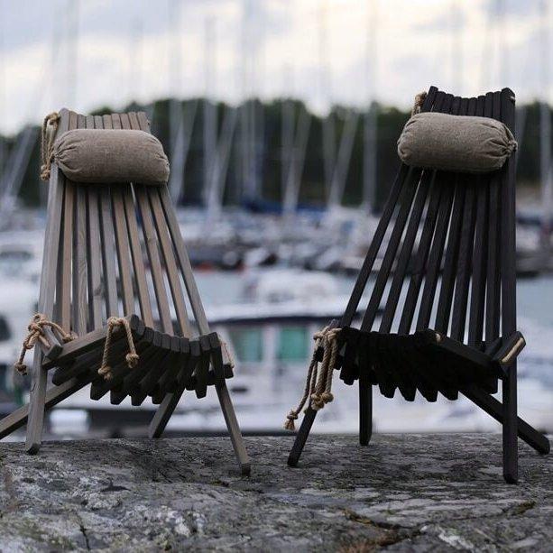 Sedia sdraio ecochair in pino oliato grigio 1