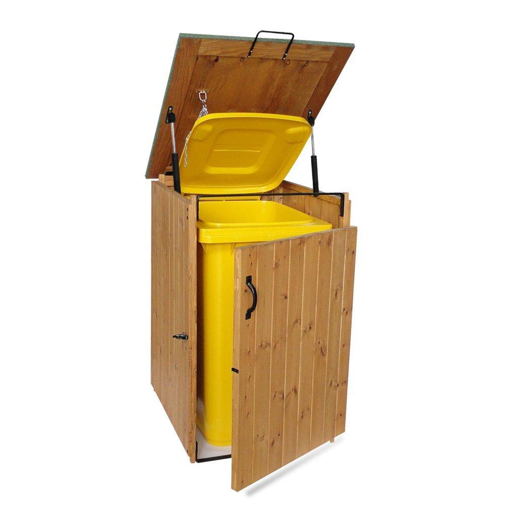 Porta bidone per rifiuti in legno trattato 1